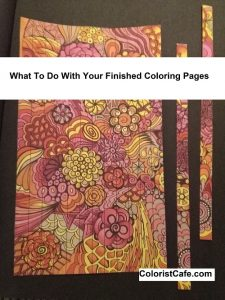 Finished Coloring Pages - What to do with your finished coloring pages